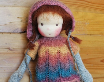 Waldorf Doll, Soft Doll, Knitted Doll, Handmade Doll, Handmade Toy, Steiner Doll