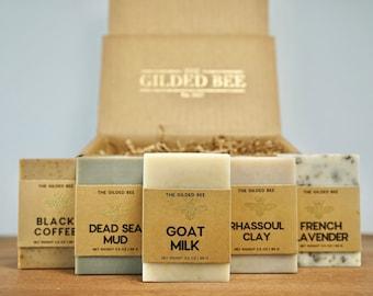 Soap Box   Soap Gift Set for Men/Women   Gift Set for Him   Gift Box for Her   Natural Bar Soap Gift Set   Holiday Birthday Gift Set for Him