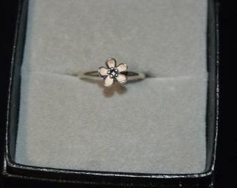7e32a0f3c PANDORA Sterling Pink Enamel Flower Ring