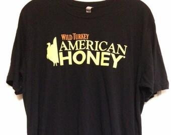 Authentic Wild Turkey American Honey T-shirt Size XL Very Soft!!