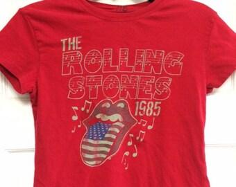Awesome Rolling Stones Vintage Reprint T-shirt!! Women's Medium