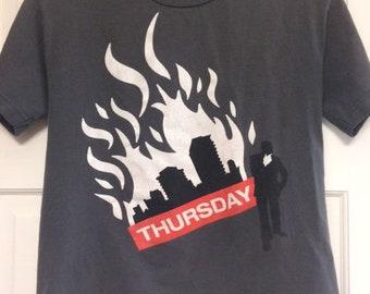 Thursday Band T-Shirt Women's Medium