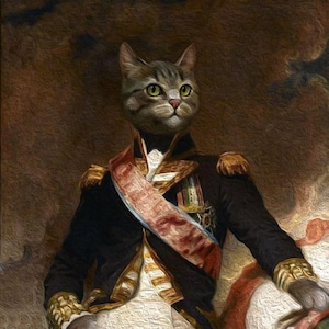 Custom colorful pet portrait from photo custom cat portrait, custom dog painting acrylic painting
