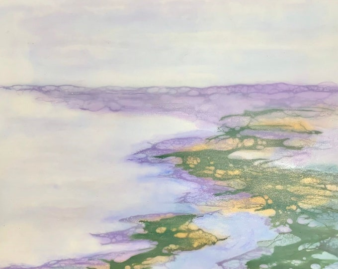 """Original, Encaustic, Landscape,  titled """"Life's Journey """"   / Artist Nikki Bruchet"""