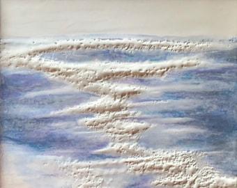 "Original, Encaustic, Landscape,  titled ""Follow Me""   / Artist Nikki Bruchet"