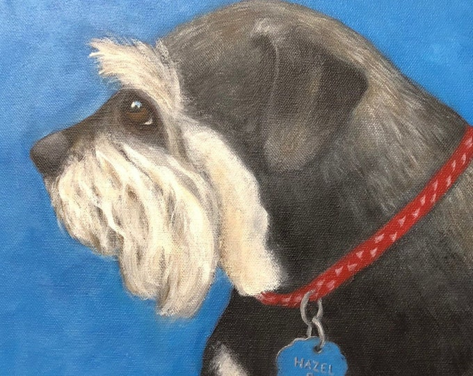 Custom Dog Portrait, Hand painted Custom Pet Portrait, Acrylic Pet portrait, Pet Lovers gift