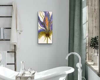 "Encaustic titled ""Lady Iris""/ Artist Nikki Bruchet"