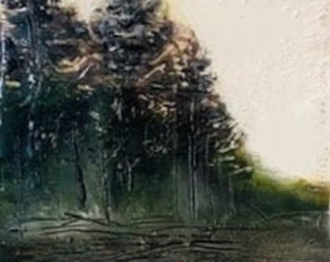 "Original,  encaustic titled ""Twilight Reflections""   / Artist Michele Bruchet"