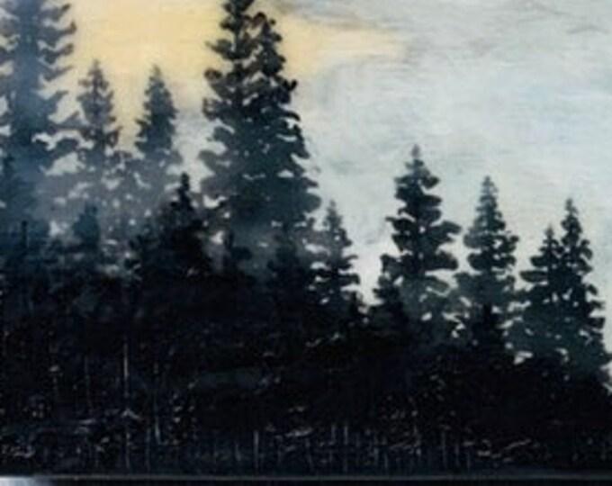 "Original,  encaustic titled ""Autumn Sunrise""   / Artist Michele Bruchet"