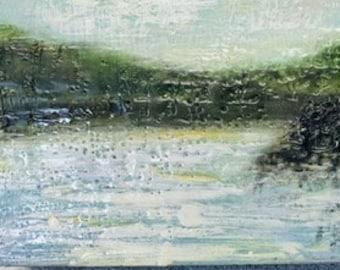 "Original,  encaustic titled ""Squaxin Island""   / Artist Michele Bruchet"