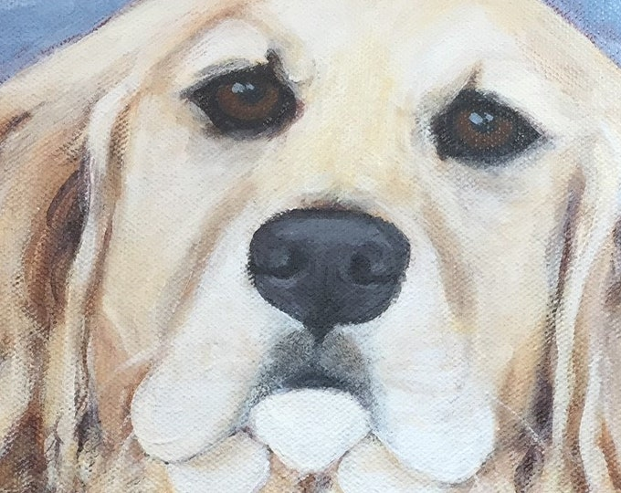 Custom dog portrait , Pet portrait, Pet lovers gift, Acrylic pet portrait