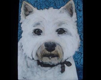 Dog portrait, West Highland White Terrier