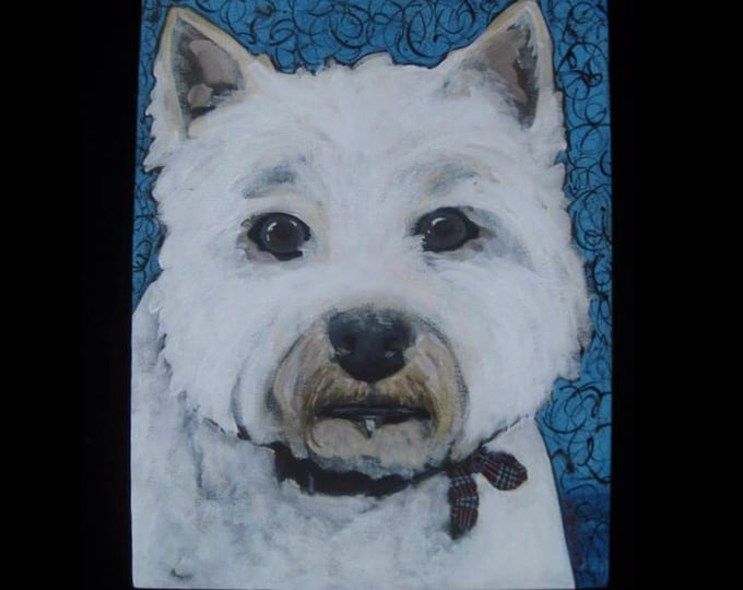 Dog portrait, West Highland White Terrier