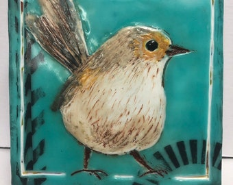 """Bird painting, """"Speedy""""  / Artist Michele Bruchet"""