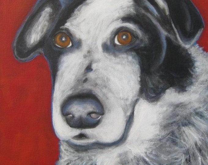 Custom dog portrait , Pet portrait, Pet lovers gift, Acrylic pet portrait