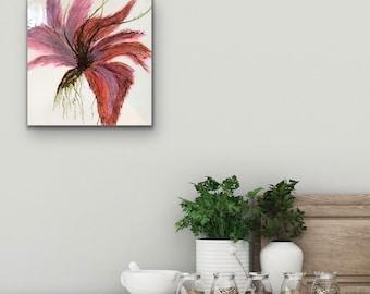 "Encaustic titled ""Madame Butterfly "" /Artist Nikki Bruchet"
