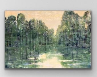 "Original, landscape, encaustic titled ""Let the Light Shine Through""/ Artist Michele Bruchet"