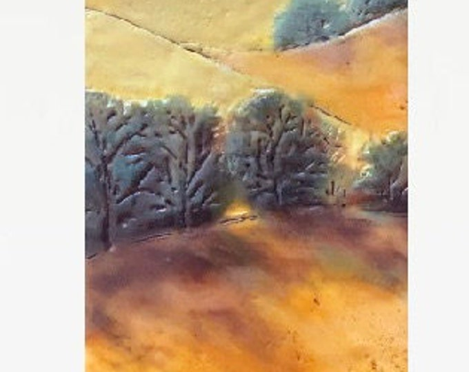 "Original,  encaustic titled ""Late Summer""   / Artist Michele Bruchet"