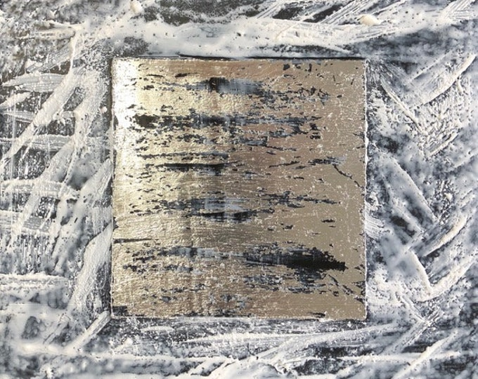 "Original, textured encaustic titled ""Come Together #1""   / Artist Nikki Bruchet"
