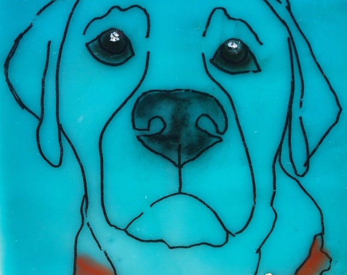 Custom Dog/Cat portrait, Mini Encaustic art, Pet lovers gift