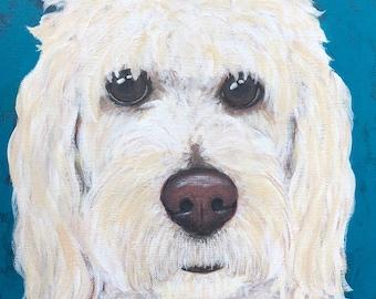 Custom dog portrait , Pet portrait, Pet lovers gift, Acrylic pet portrait, Custom Cat Portrait
