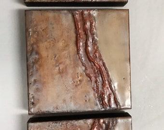 "Original encaustic titled ""Terra Firma""/ Artist Nikki Bruchet"