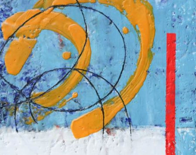 "Original encaustic titled ""Complicated""   / Artist Michele Bruchet"