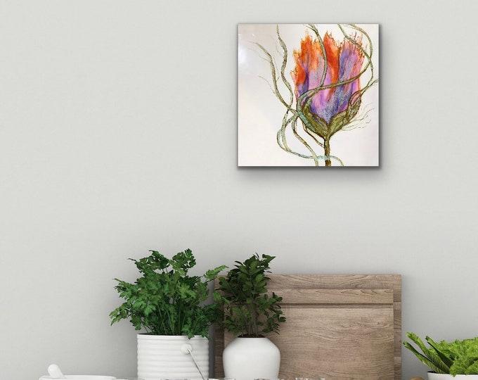 "Encaustic titled ""Tiptoe through the Tulips"" /Artist Nikki Bruchet"