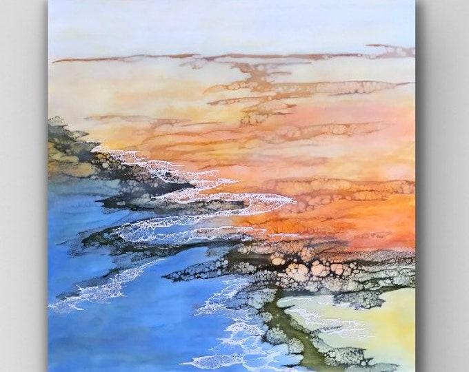 "Encaustic titled ""Radiant Tide"" /Artist Nikki Bruchet"