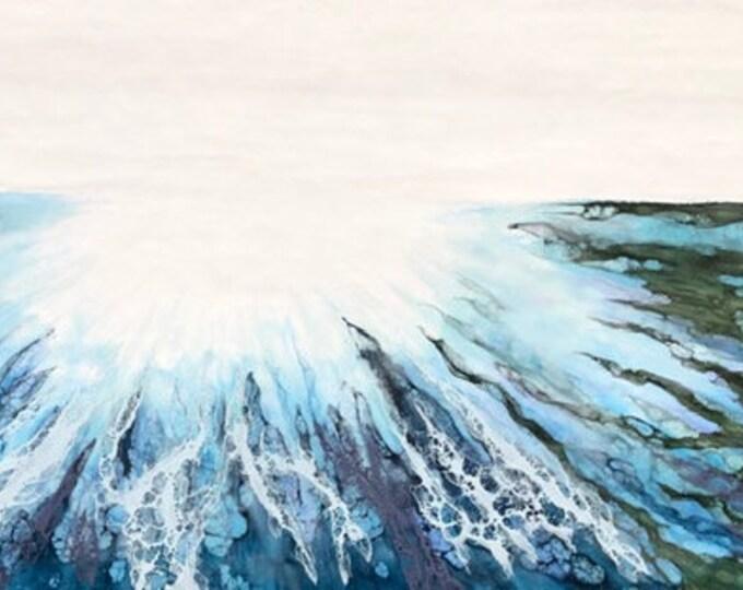 "Original, Encaustic, Landscape,  titled ""Reflections""   / Artist Nikki Bruchet"