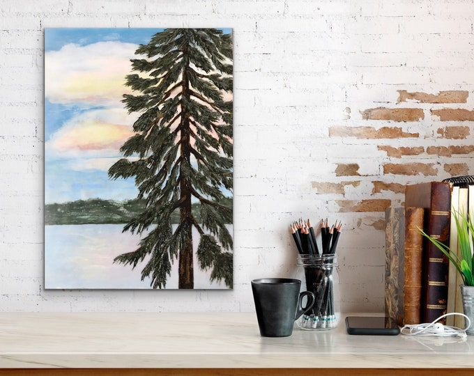 "Original,  encaustic titled ""Out my Window""   / Artist Nikki Bruchet"