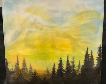 """Encaustic """"Cascades""""  / Artist Michele Bruchet"""