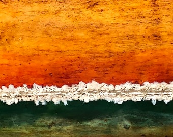 "Original, abstract landscape, encaustic titled ""Tuscan Horizon""   / Artist Nikki Bruchet"