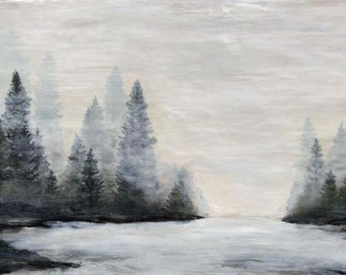 "Original,  encaustic titled ""Endless Fog""   / Artist Michele Bruchet"
