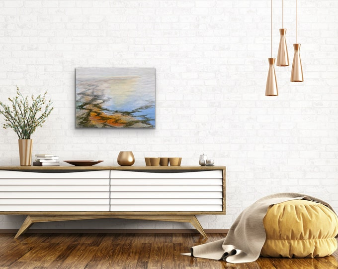 "Original, Encaustic, Landscape,  titled ""Day Break""   / Artist Nikki Bruchet"