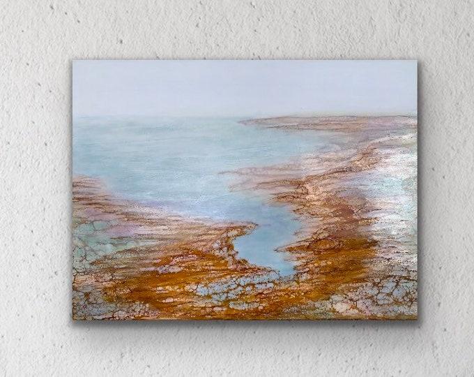 """Original encaustic titled """"California Dreaming""""/ Artist Nikki Bruchet"""