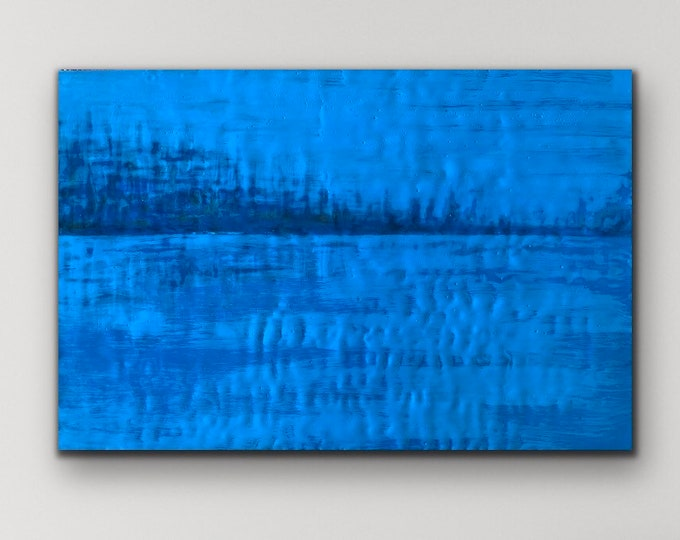 "Original, Encaustic, Fluid,  titled ""Evening Tranquility ""   / Artist Michele Bruchet"