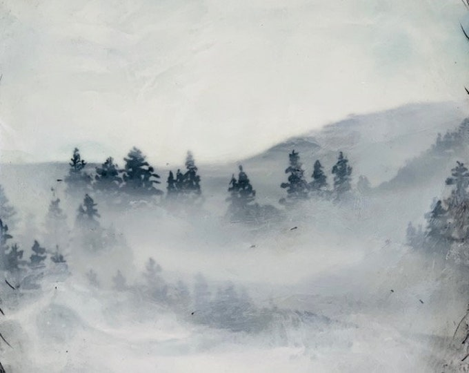 "Original encaustic titled ""Through the Window""   / Artist Michele Bruchet"