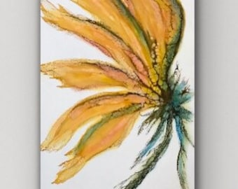 "Original encaustic titled ""Aurora""/ Artist Nikki Bruchet"