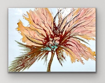 "Original encaustic titled ""Lingering""/ Artist Nikki Bruchet"