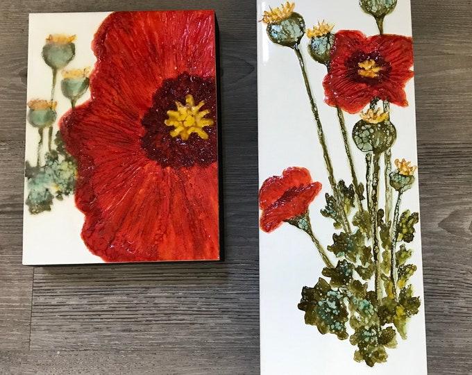 """Encaustic flower """"Remembering"""" / artist Nikki Bruchet"""