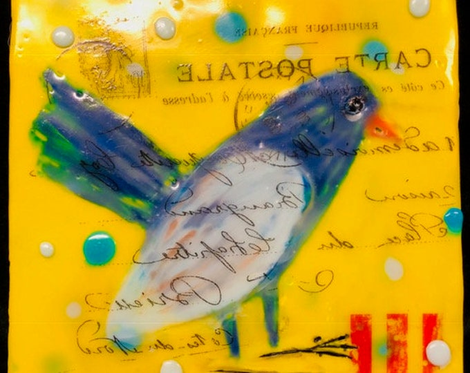 "Bird painting, ""French Bird""  / Artist Michele Bruchet"