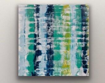"Floral encaustic titled ""Repetition""   / Artist Nikki Bruchet"