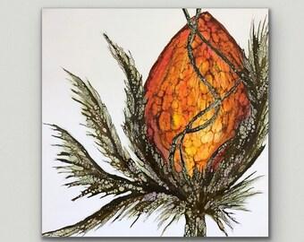 "Original encaustic titled ""Vibrant Garden ll ""/ Artist Nikki Bruchet"