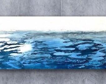 "Original, abstract landscape, encaustic titled ""Solitude""   / Artist Nikki Bruchet"