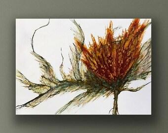 """Handmade encaustic titled """"Giselle""""  / Artist Nikki Bruchet"""