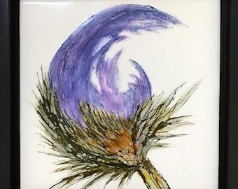 "Floral encaustic titled ""Ruth""   / Artist Nikki Bruchet"
