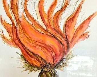 "Original encaustic titled ""Liberty""/ Artist Nikki Bruchet"