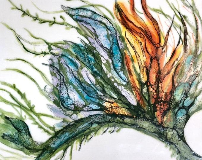 "Original encaustic titled ""Exotica Botanica II""  / Artist Nikki Bruchet"
