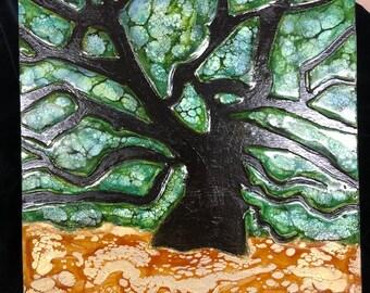 "Original, Encaustic titled ""Angel Oak"" / Artist Nikki Bruchet"